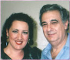 With Placido Domingo.
